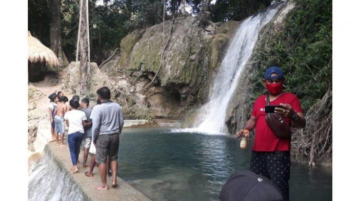 Indahnya Air Terjun Hono di Kabupaten Kupang, Ini Pesan Camat Amabi Oefeto Timur