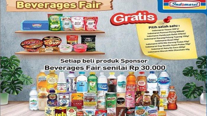Indomaret Hari ini 18 Februari 2021, Beverages Fair Belanja Rp 30 Ribu Gratis Produk Pilihan