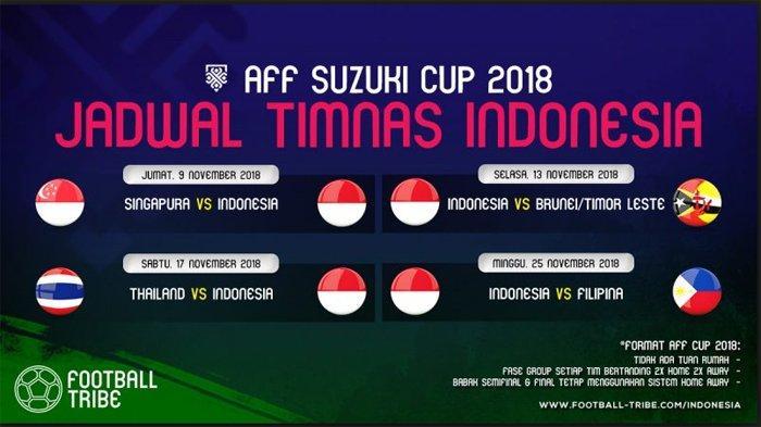 Live Streaming Indonesia vs Thailand Malam ini di Piala AFF 2018, Indonesia Bikin Rekor Baru?