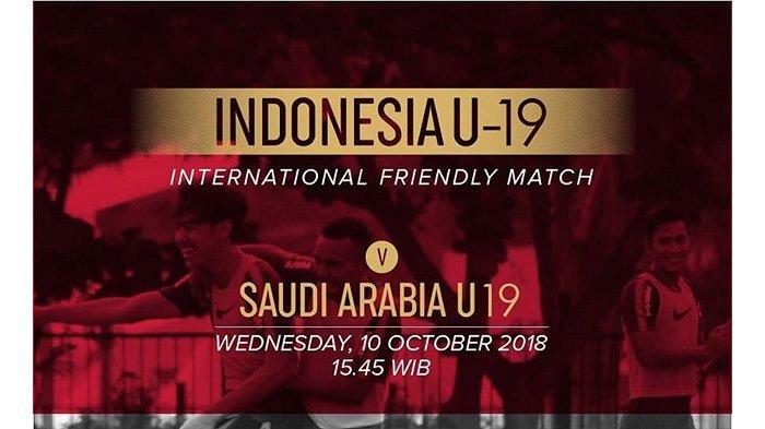 LIVE Streaming RCTI Timnas U-19 Indonesia vs Arab Saudi Pukul 15.30 WIB