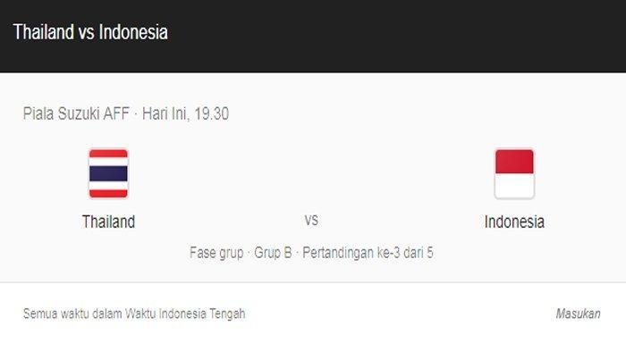 Live Streaming TV Online Piala AFF 2018, Indonesia vs Thailand, ini Susunan Timnas Indonesia