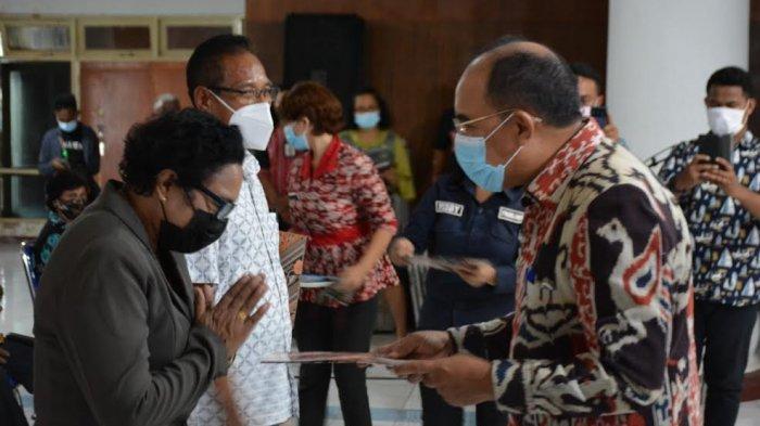 125 Pensiunan ASN di Lingkup Pemerintah Kota Kupang Terima Santunan