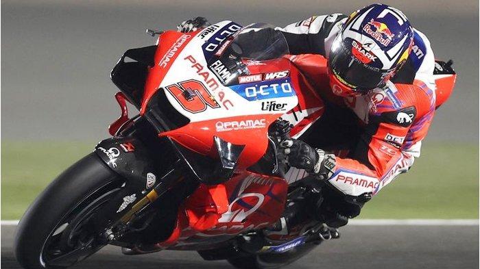 Johann Zarco saat sesi latihan bebas pada MotoGP Doha 2021.