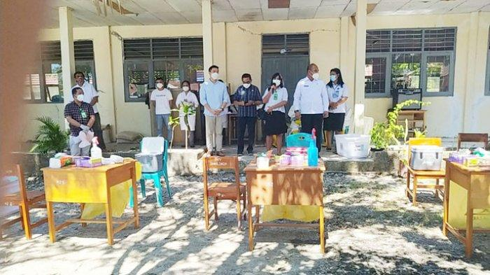 Kadis Dikbud NTT Launching Kick Off Swab Massal Program Surveilans Sekolah Bebas Covid-19