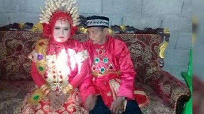 Kakek 70 Tahun dan Punya Cicit Ini  Bahagia Nikahi Gadis 28 Tahun