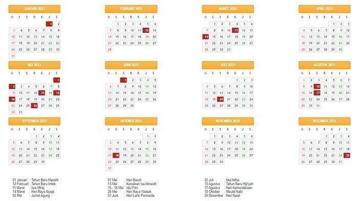 Kalender 2021 Catat Tanggal Cantik Daftar Hari Libur Hari Raya Idul Fitri Idul Adha Dan Ramadhan Pos Kupang