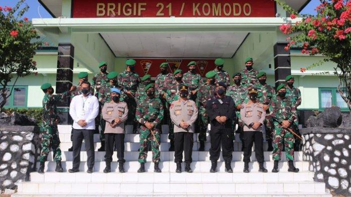 Kapolda NTT Silahturahim ke Mako Brigif 21/Komodo