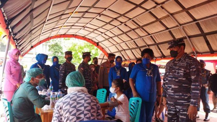 KASAL Pantau Vaksinasi di Lanal Labuan Bajo Kabupaten Manggarai Barat