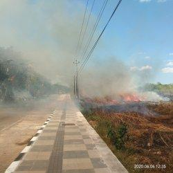 BREAKING NEWS: Kebakaran Lahan di Jalan Piet Tallo, Oesapa Selatan, Lalu-lintas Terhambat, Info.