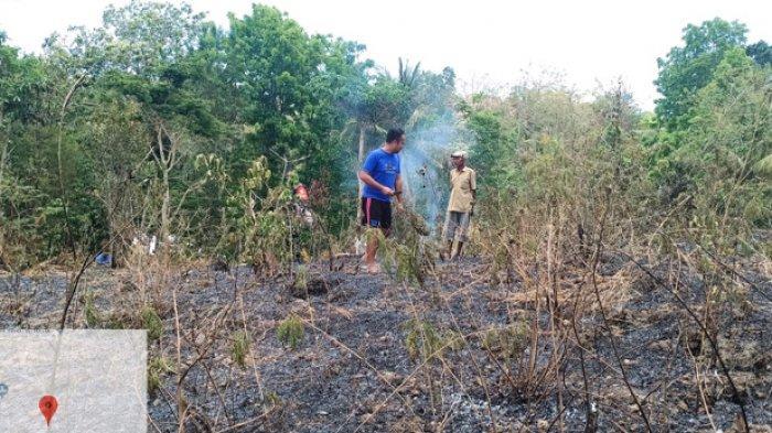 Kebakaran Lahan Milik Yan Lobo, Danramil Kota SoE Turun Langsung Padamkan Api