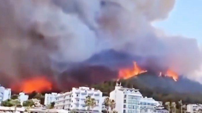 Kebakaran Hutan di Turki Bak Neraka, 4 Orang Tewas 80 Persen Rumah Terbakar, Ribuan Turis Dievakuasi