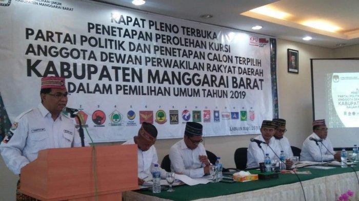 KPU Mabar Tetapkan Hasil Pemilu, Caleg Terpilih Suara Terbanyak Meraup 2.616 suara