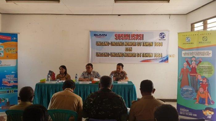 PT Jasa Raharja Sosialisasi Keselamatan di Jalan Raya kepada Aparat Desa di Kupang Tengah