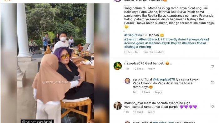 Fans Soroti Pertemuan Syahrini & Tante Reino Barack, Rosita Barack Istri Konglomerat