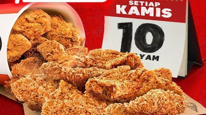 Promo KFC Khusus Hari Ini 22 April 2021 Pas Bukber 10Ayam Goreng Rp 90Ribu Makan Bareng 5Ayam 3Nasi