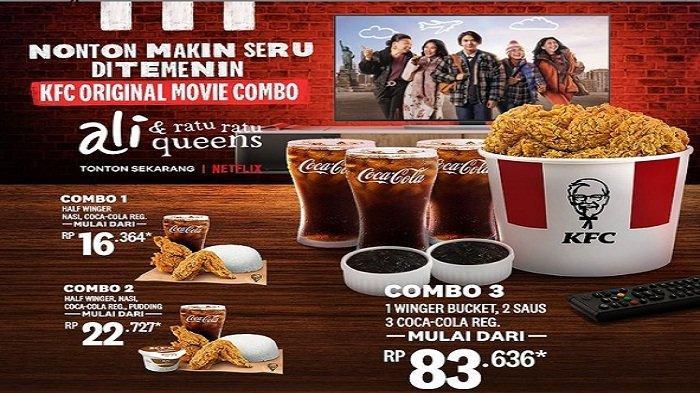 Promo KFC 21 Juni 2021 Original Movie Combo Menu Lengkap Half Winger Nasi Cocacola Pudding Rp22.727