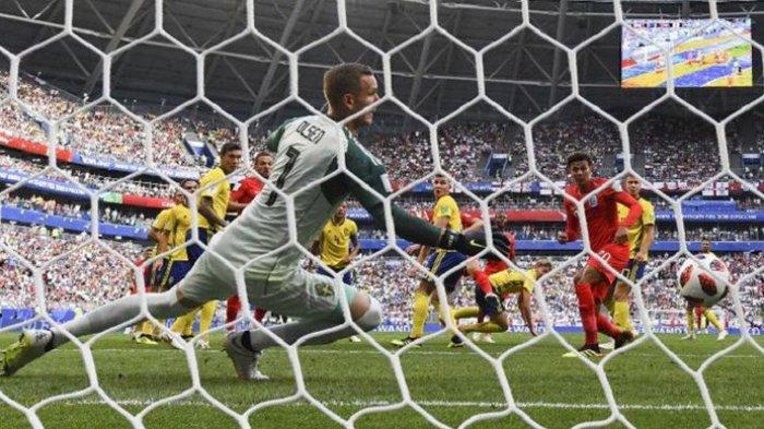 Gol Maguire Unggulkan Inggris 1-0 atas Swedia di Babak Pertama