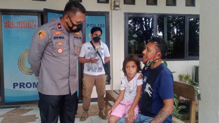 Kisah Anggota Polsek Kelapa Lima Selamatkan Bocah 5 Tahun yang Ditinggal di Pinggir Jalan