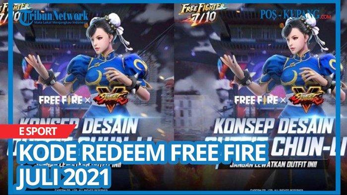 Kode Redeem FF 26 Juli 2021, Buruan Tukar Kode Redeem Free Fire Terbaru dan Belum Digunakan