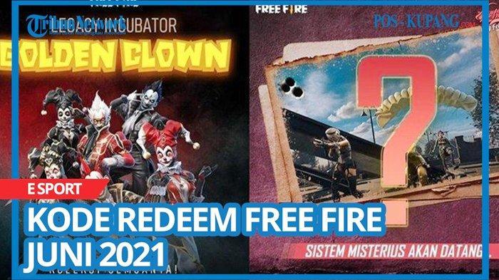 Update Kode Redeem FF 16 Juni 2021, Buruan Tukar Kode Redeem Free Fire Terbaru