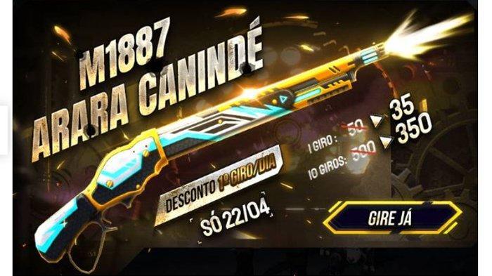 UPDATE KODE REDEEM Free Fire FF 1 November 2020 Dapatkan SKIN M1887 dari Free Fire Garena