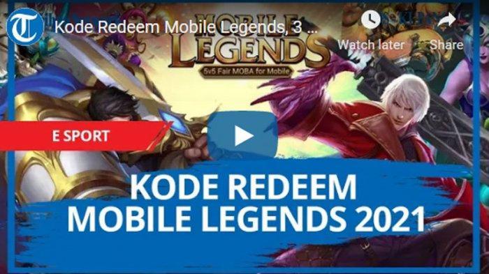 Update Kode Redeem ML Besok 10 April 2021, Klaim Kode Redeem Mobile Legends Terbaru & Terlengkap