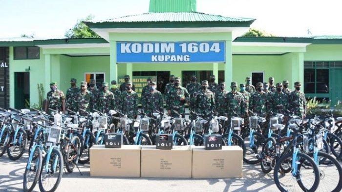 Kodim 1604 Kupang Dapat Bantuan Sepeda KASAD Jenderal Andika Perkasa