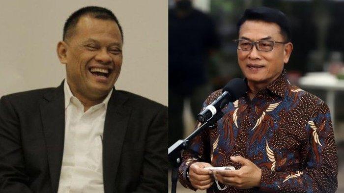 Gatot Nurmantyo dan Moeldoko. Mantan Panglima TNI, Gatot Nurmantyo, mengaku tak kaget saat tahu Moeldoko menjadi Ketua Umum Partai Demokrat lewat KLB di Deli Serdang.