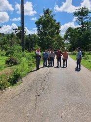 Bupati Malaka Tinjau Jalan Provinsi dari Teun-Simpang Welaus