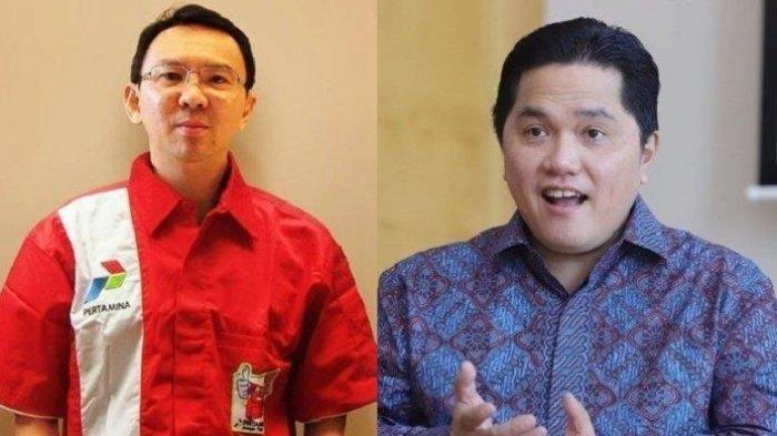 Reaksi Erick Thohir Thohir Tanggapi Ahok yang Usulkan Bubarkan Kementerian BUMN, Panggil BTP