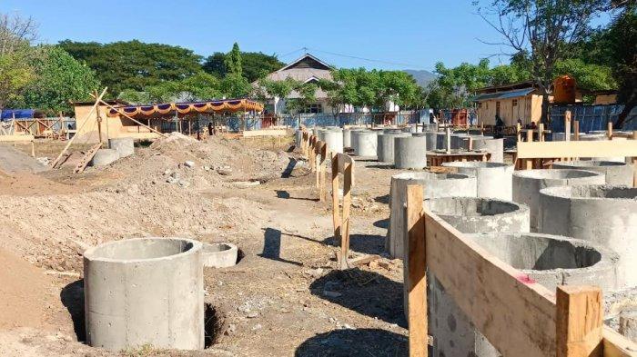 Meski Pandemi Covid-19, Bupati Nagekeo Letakan Batu Pertama Pembangunan Perpustakaan