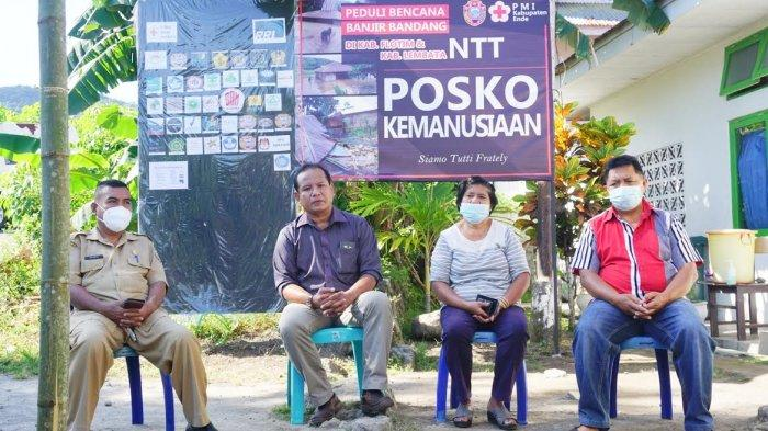 Konferensi pers di Posko Bencana PMI Kabupaten Ende