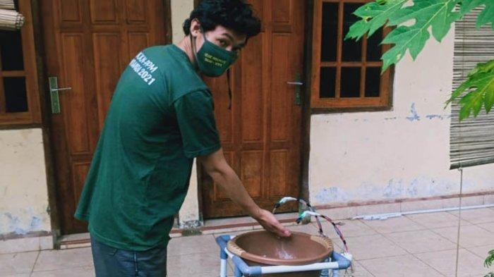 Kontribusi Mahasiswa Unwira Kupang Cegah Covid-19: Cipta Tempat Cuci Tangan Berbasis Sensor