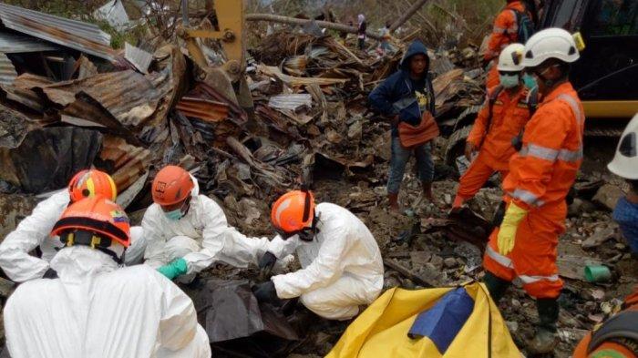 Tim SAR Kembali Temukan 7 Jenazah Korban Gempa dan Tsunami Palu, Sulawesi Tengah