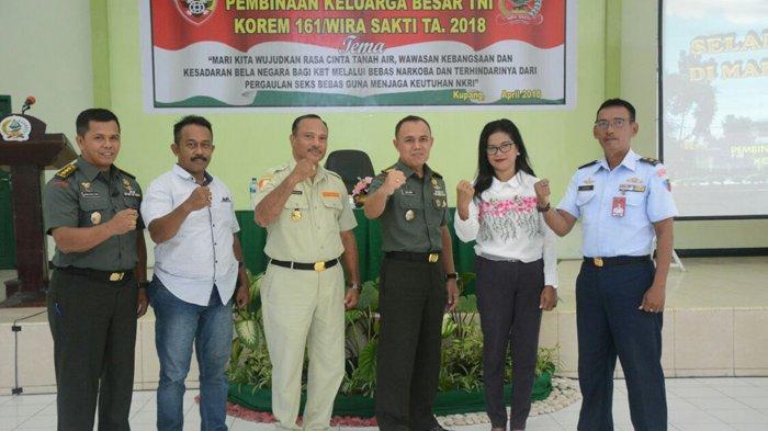Pembinaan Keluarga TNI di Korem 161 Kupang, Dua Organisasi ini Jadi Garda Terdepan Perangi Narkoba
