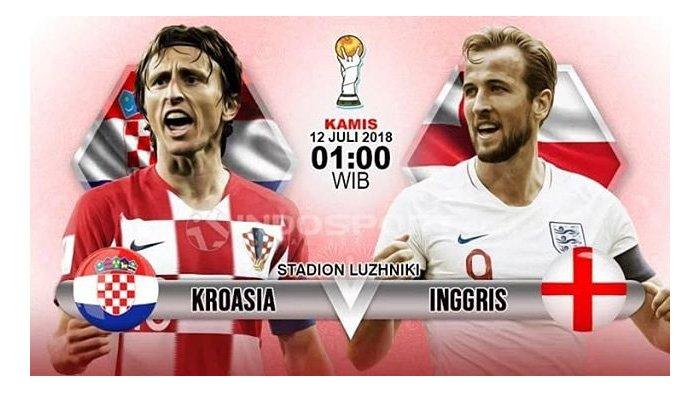 Inggris vs Kroasia di Semifinal Piala Dunia 2018, Begini Cara Nonton Live Streaming di Hp Anda