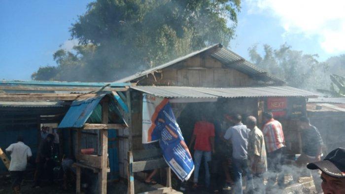 Satu Unit Kios di Kampung Boripo-Bajawa, Kabupaten Ngada Dilahap Si Jago Merah, Begini Kondisinya