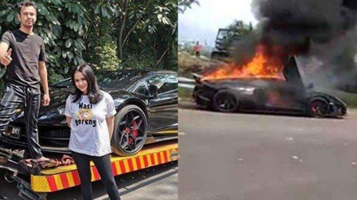 Saksi Rekam Detik-Detik Mobil Lamborghini Aventador Terbakar, Begini Reaksi Raffi Ahmad Suami Nagita