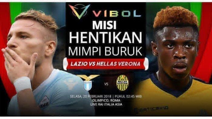 LINK Live Streaming BeIN Sports 1 Lazio vs Verona Liga Italia, Kamis 6/2 Jam 02.45 WIB