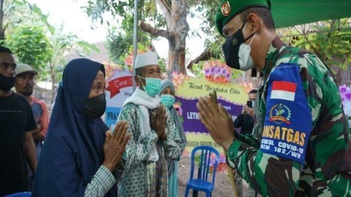 Perwira TNI Pangkat Lettu Gugur Diserang KKB Papua , Disambut Secara Militer, Keluarga Histeris