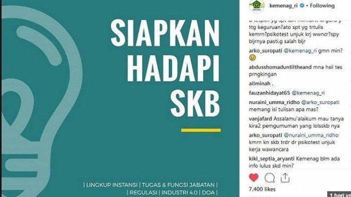 Link Hasil Tes SKD CPNS 2018 Kemenag dan Jadwal Pelaksanaan & Tips Lulus Tes SKB