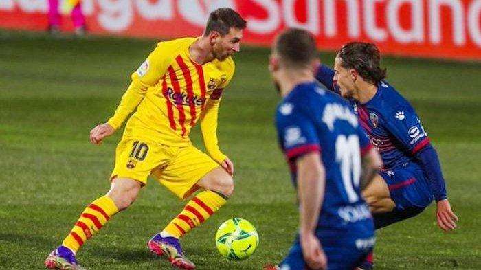 HASIL Liga Spanyol Tadi Malam- Beri Huesca 4 Kesempatan, Barca Dominan & Menang di Laga ke-500 Messi