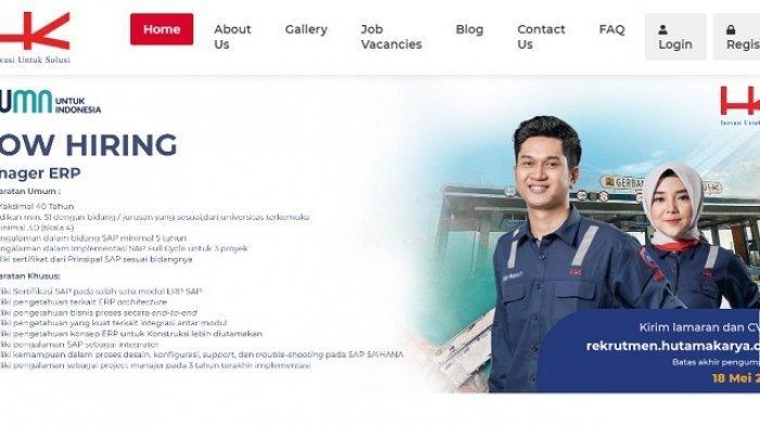 Lowongan Kerja BUMN PT Hutama Karya Bagi Lulusan S1, 9 Posisi Dibuka Hingga 21 September 2021