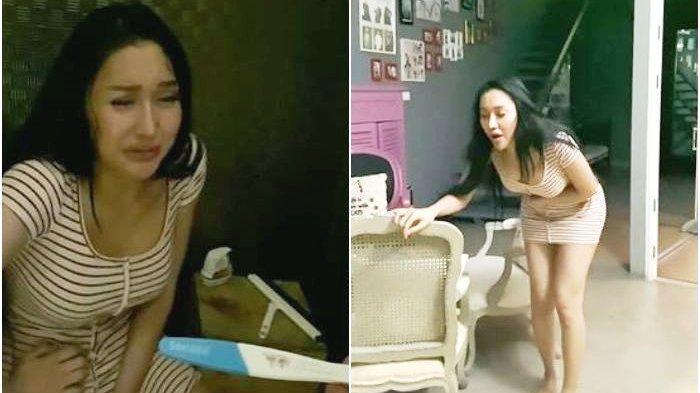 Lucinta Luna Mendadak Mual-mual,Nangis Pamer Hasil Test Pack Positif Hamil, Netizen:Suaranya Jantan