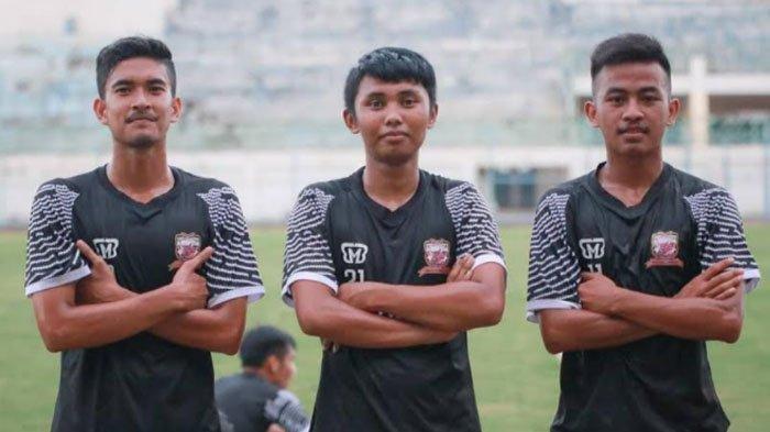 Tiga pemain muda binaan Akademi Madura United asal Madura yang mengikuti seleksi di Madura United.