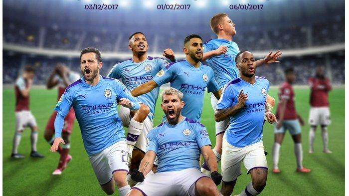 LINK Live Streaming Mola TV Manchester City vs West Ham Liga Inggris, Minggu 9/2 Jam 23.30 WIB