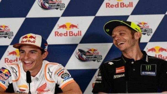 Meski Masih Sakit, Marc Marquez Kalahkan Rossi di GP Spanyol, The Doctor Tak Disorot Kamera