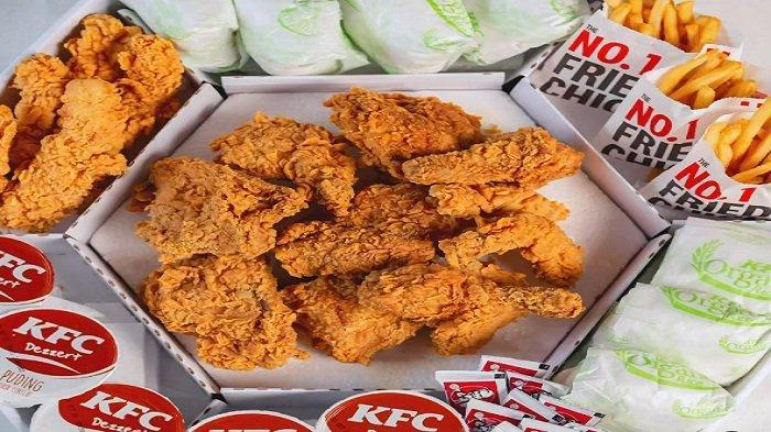 Makan Bareng Malam Minggu di KFC 5 Juni 9 Ayam Goreng 7 Nasi 5 Puding 3 Kentang Goreng Rp 240Ribuan
