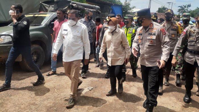 Menteri Sosial RI Tiba di Waiwerang Posko Pengungsian Dibangun dan Siap Drop Bantuan Darurat