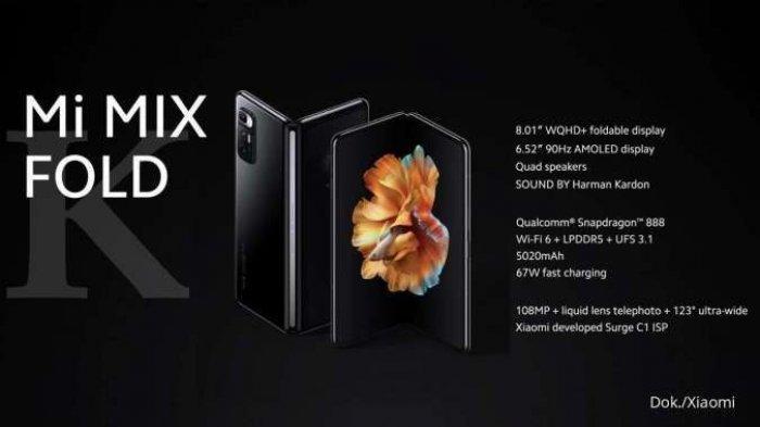 Mi Mix Ponsel Lipat Pertama dari Xiaomi, Cek Harga dan Spesifikasi Saat ini